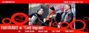 "16/05/2015 – TRIOTARANTE in ""Canti Migranti"""
